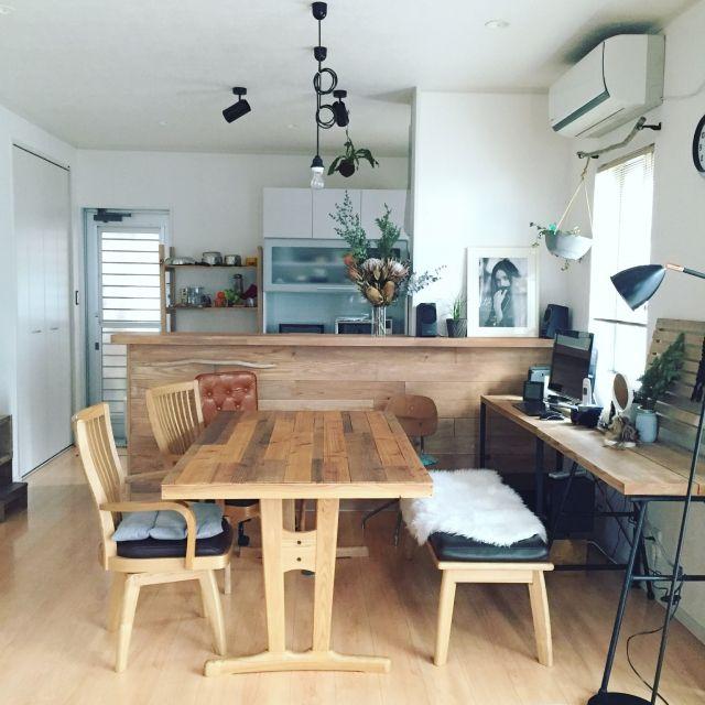 mii..さんの、Overview,植物,DIY,ドライフラワー,足場板,NO GREEN NO LIFEについての部屋写真