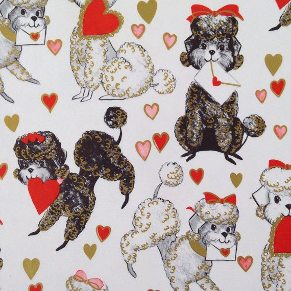 Vintage wrapping paper gift wrap on Etsy, $10.00