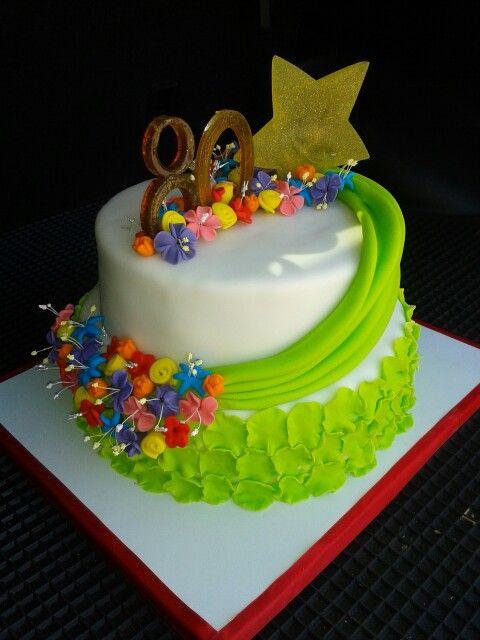 Torta cumpleaños 80'