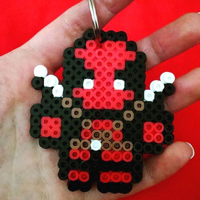 Deadpool perler beads by  dnkaiser