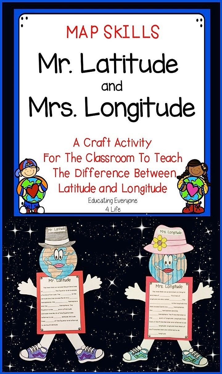 Latitude and Longitude Craft Activity - This is an engaging resource to help students identify the difference between latitude and longitude.