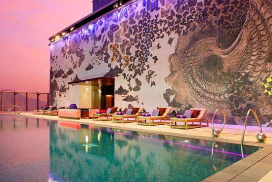 W Hotel Hong Kong - Pool: Hong Kong, Hongkong, Travel, Place, Pools, W Hotel, Design, Hotels