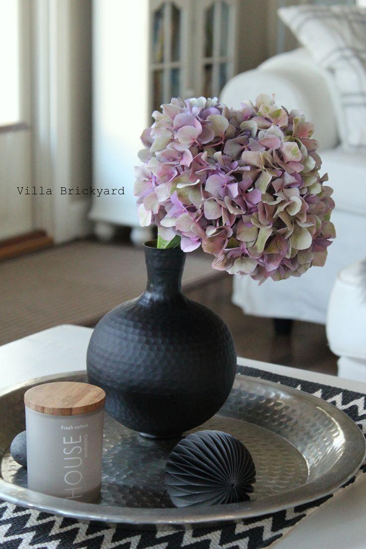 Our living room and hortensia, Villa Brickyard photos