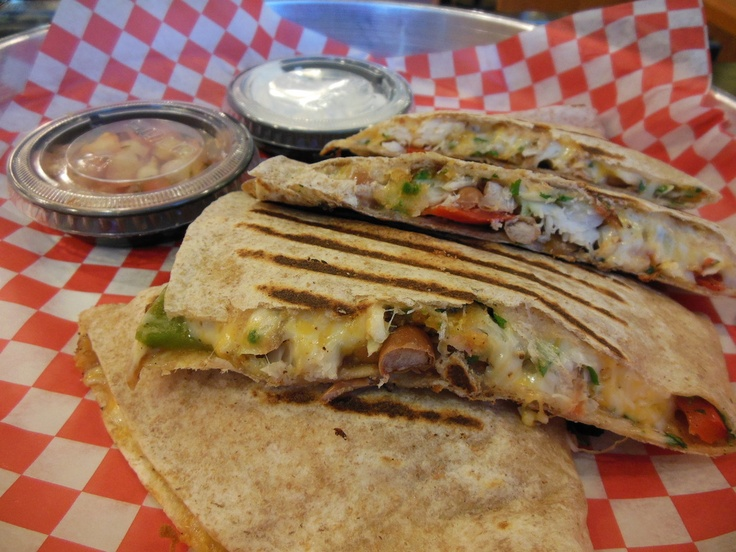 !Hola! Fish Quesadilla from Mucho Burrito.