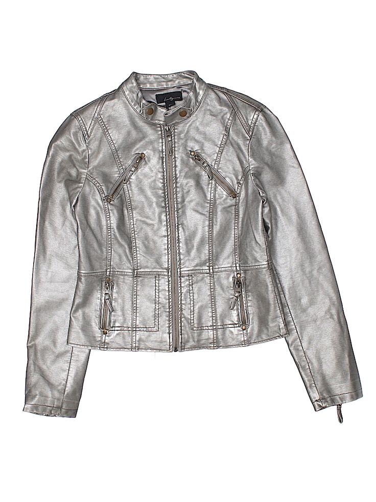 Twenty One Women Faux Leather Jacket Size M