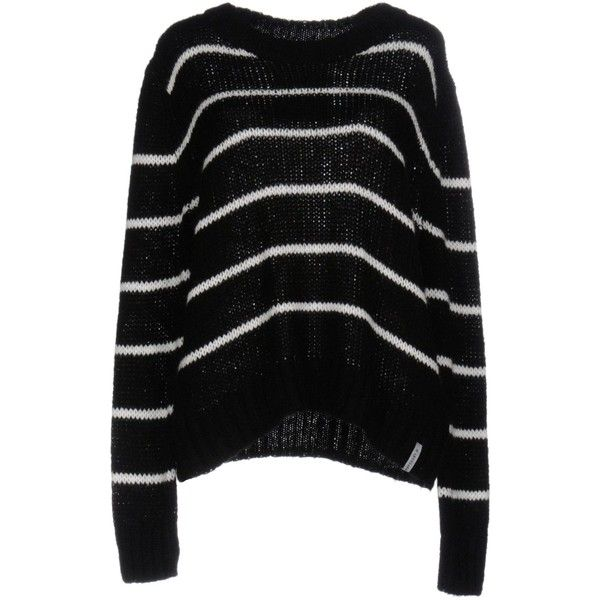 Superdry Jumper (770 EGP) ❤ liked on Polyvore featuring tops, sweaters, black, long sleeve tops, long sleeve jumper, long sleeve sweater, superdry and superdry tops