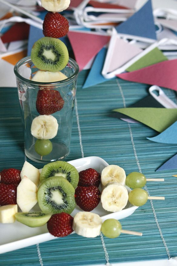 Enkla fruktspett