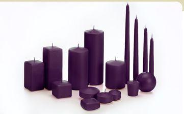 Dark Purple Candles | Dark Purple Wedding Candles | Cheap Dark Purple Candles - Yummi Candless.com