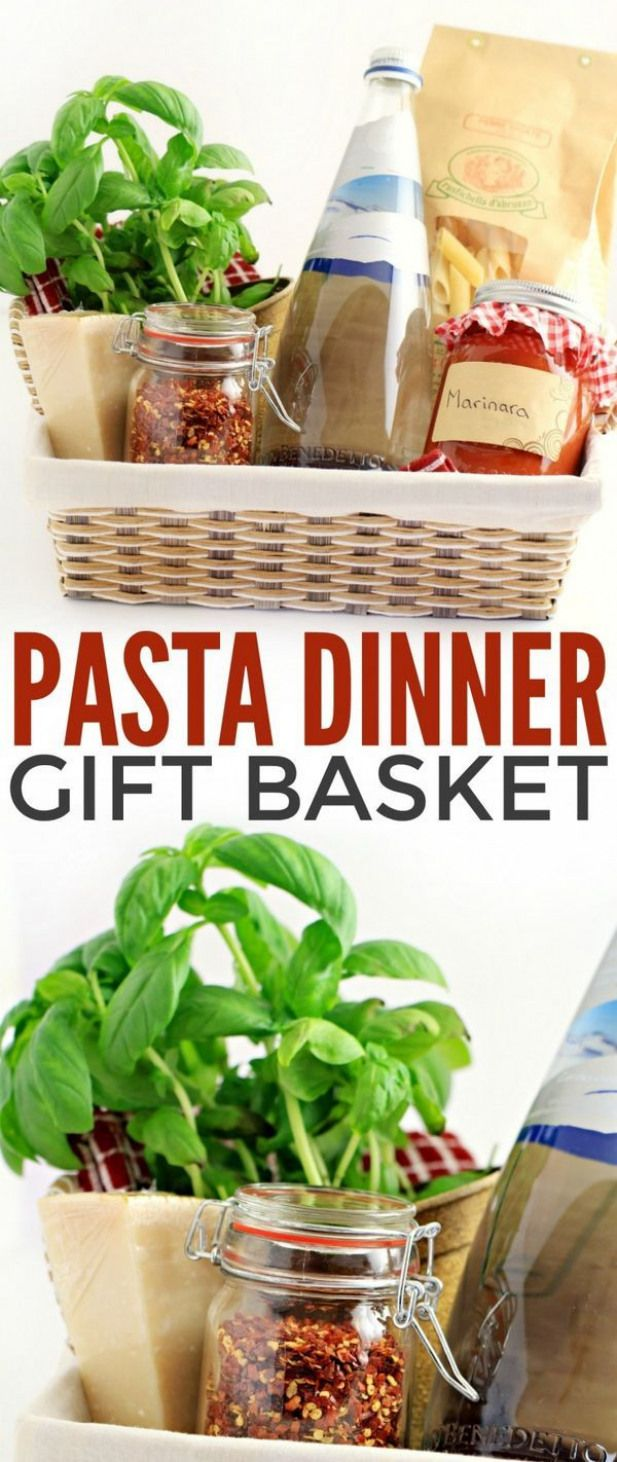 This Italian-inspired gourmet pasta dinner gift basket includes everything the r…