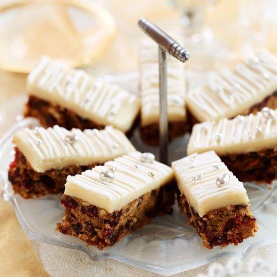Christmas cake tray bake recipe.