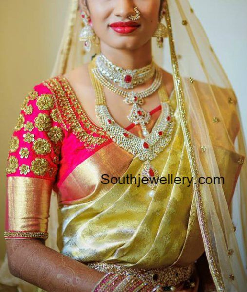 Bride in Stunning Diamond Jewellery