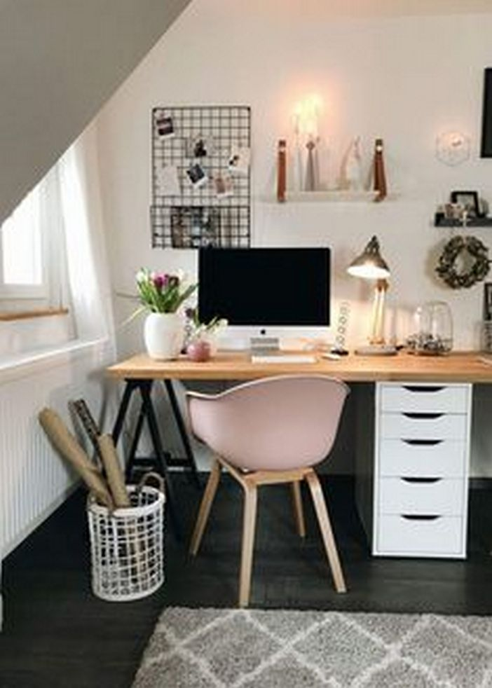 86 Wonderful Diy Desk Ideas For Best Home Decoration 76 Deskideas Diydeskideas Diyhomedecoration Home Office Desks Home Office Decor Home Office Design