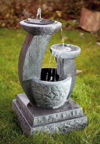 Great Naturstein Brunnen Solarbrunnen Solar Gartenbrunnen Caskaden Brunnen Style m https