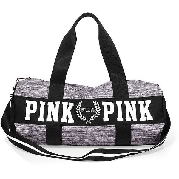 eca54ebc5b PINK Gym Duffle found on Polyvore featuring bags