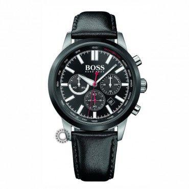 1513191 Ανδρικό σπορ quartz ρολόι HUGO BOSS με χρονόμετρο, μαύρο καντράν & μαύρο δέρμα | Ανδρικά ρολόγια BOSS Κοσμηματοπωλείο ΤΣΑΛΔΑΡΗΣ στο Χαλάνδρι #Boss #χρονογραφος #λουρι #ανδρικο #ρολοι
