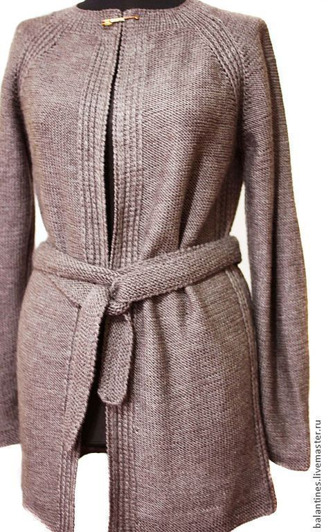 Plus size woman clothing/Oversize cardigan/ Plus size coat/ Plus size cape coat/Wool cardigan/Long sweater coat /Plus size cardigan  Knit sweater / Hand knitting  jacket and top  for women. Classic  model cardigan and top. MADE TO ORDER any color and any size.  Купить Вязаный кардиган и топ Жакет и топ вязаные шерсть-акрил - коричневый, кардиган вязаный