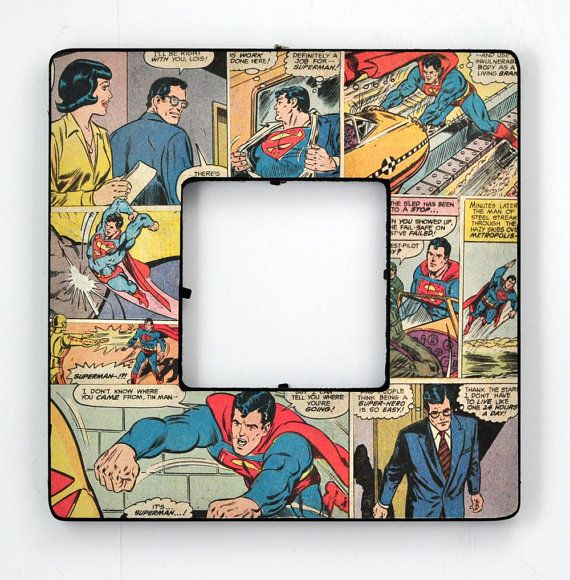 Decoupaged Comic Book Frame