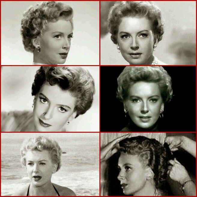 Deborah Kerr's hair style smooth bouclé short