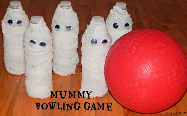 Mummy Bowling Game. Could decorate the pins for other themed holidays/events as well.