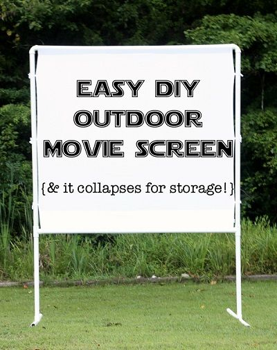 Recipes, Projects & More - How To Make An Easy DIY Outdoor Movie Screen