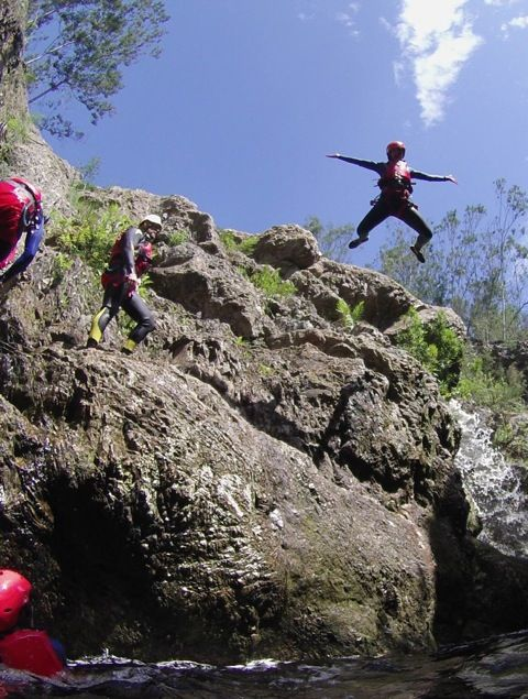 Kloofing with Africanyon near The Crags on the Garden Route, South Africa. Dirty Boots Adventure Guide