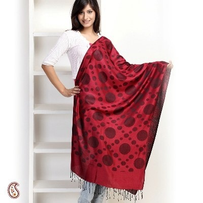 Red #Polka Dot #Stole