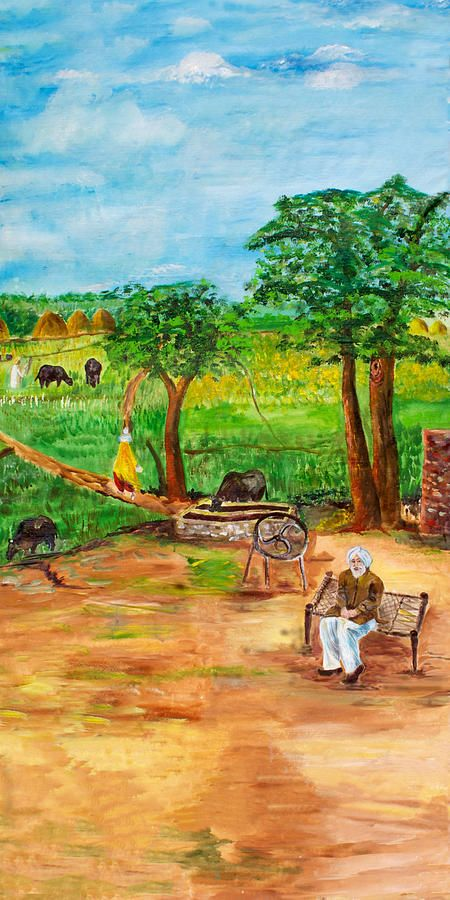 Punjabi Farmer Painting