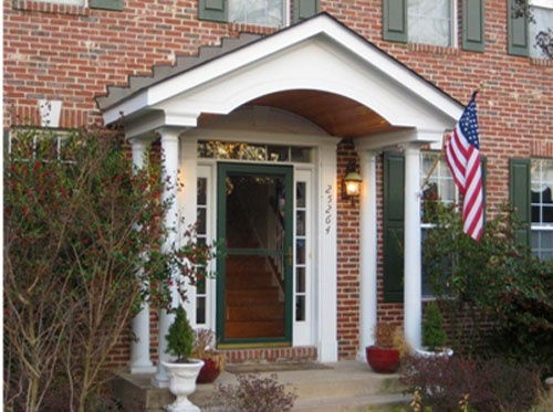 Best Portico Images On Pinterest Porch Ideas Front Doors And - Colonial portico front entrance