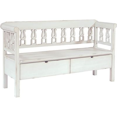 Magnolia Home Hall Bench with Storage (White)