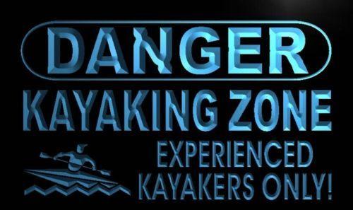 Danger Kayaking Zone Neon Light Sign