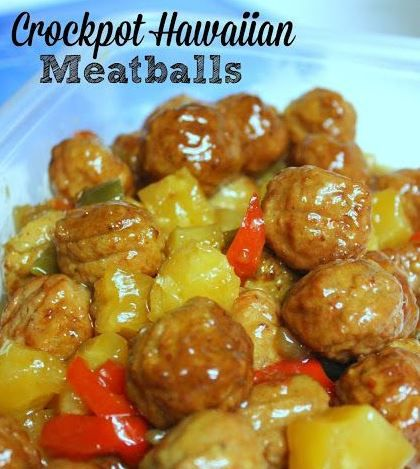 Ingredients 32 oz. package of precooked, frozen meatballs (you could use turkey meatballs) 13.5 oz can of unsweetened pineapple chunks (put juice aside) 1 large green pepper, diced 1 cup of brown s…