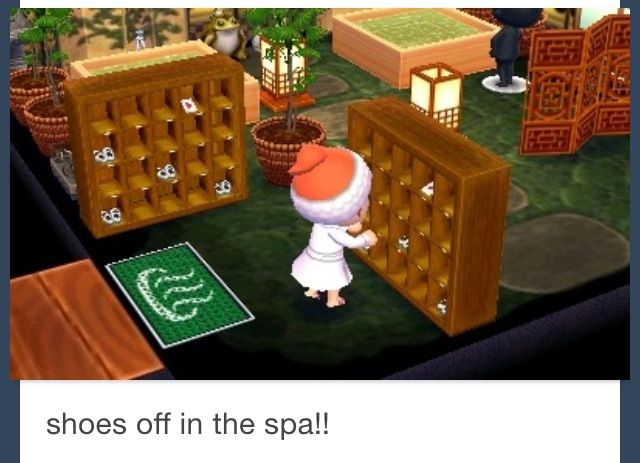 Animal Crossing New Leaf Spa Room