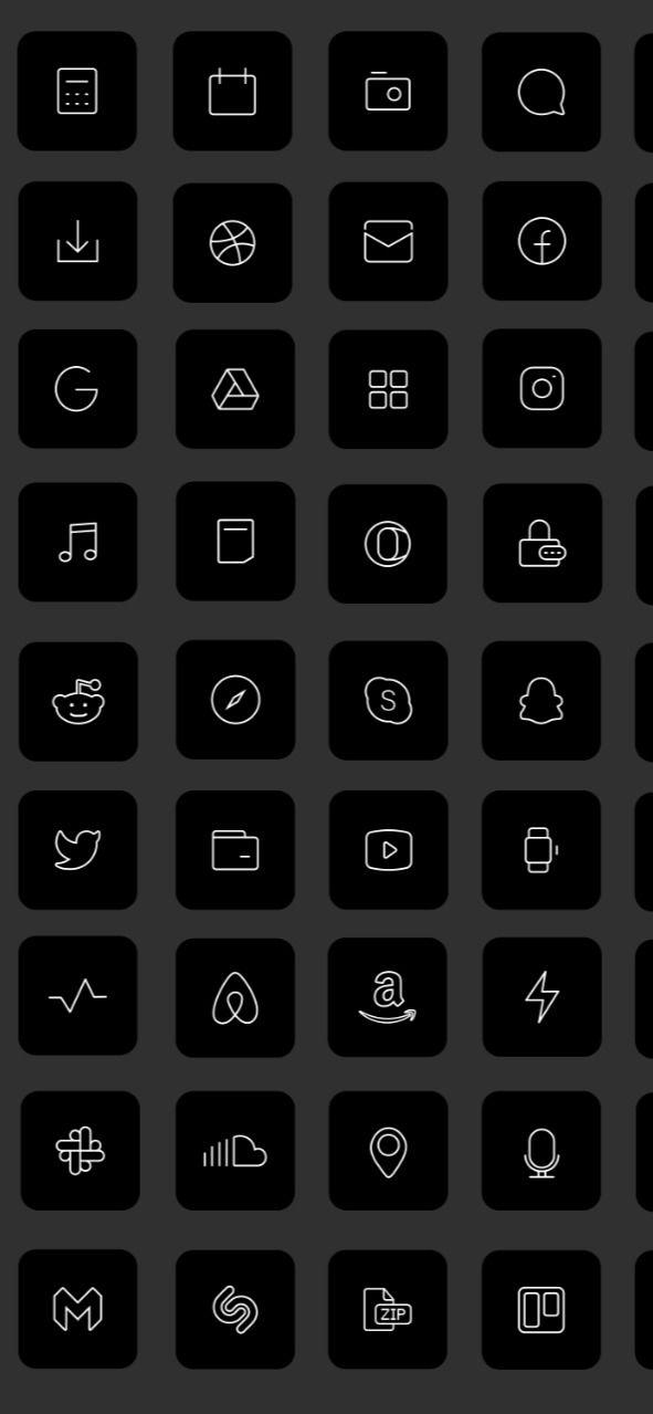 83 Black Ios 14 App Icons Dark Mode Widget Ios 14 Cover Widgetsmith Aesthetic Minimal Icon Iphone Apple Pack Icons Set Shortcut Aesthetic App Icon Iphone Icon Iphone Wallpaper App