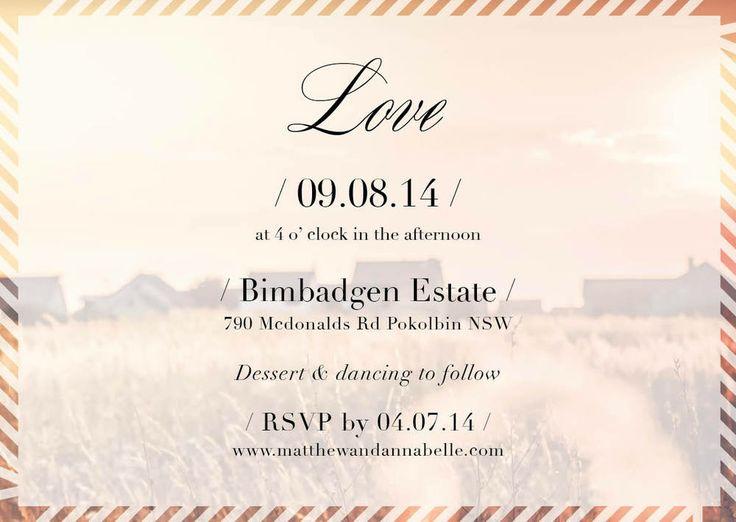 Photo #Wedding Invite #Invitation Bohemian Boho Love #Vintage www.fortheloveofstationery.com