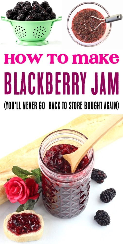 Blackberry Jam Recipe! Easy Small Batch Canning Recipes for the Best Homemade Ja…