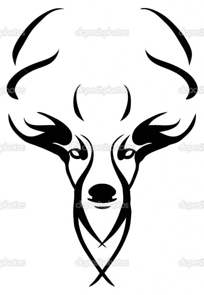 Skull Line Drawing Easy : Best deer head silhouette ideas on pinterest