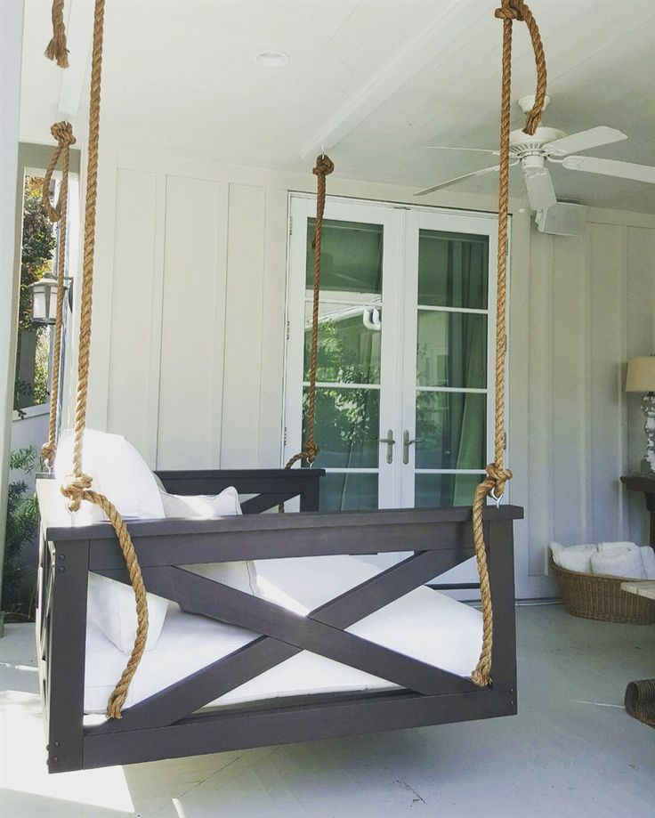 Front Porch Swings Farmhouse Exterior: Best 25+ Porch Swing Beds Ideas On Pinterest