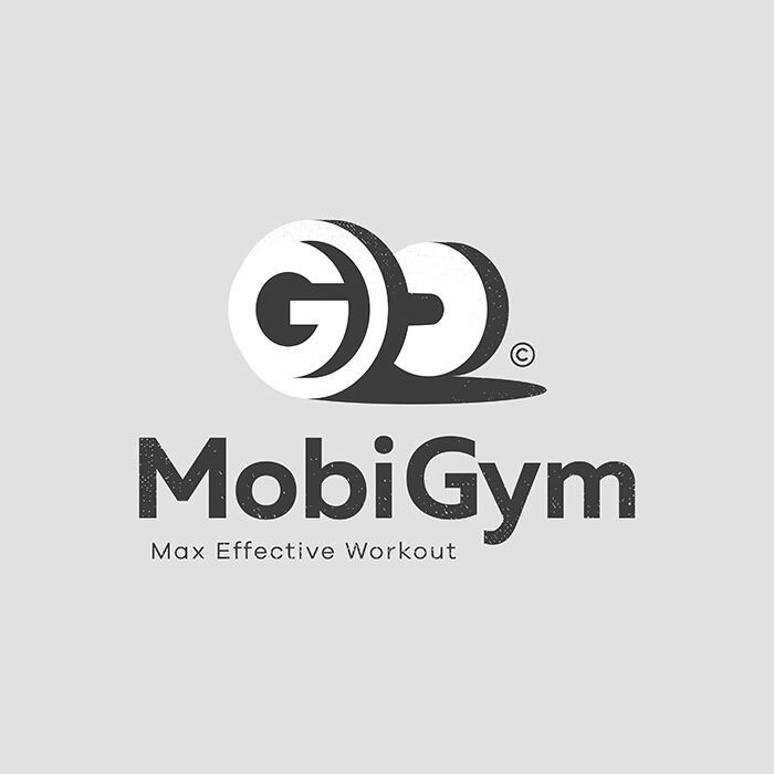Gym Text Logo Monogram Graphic Letter Style Top Typo Inspiration Trending Art Work Ideas By Piotrlogo Monogram Logo Design Gym Logo G Logo Design