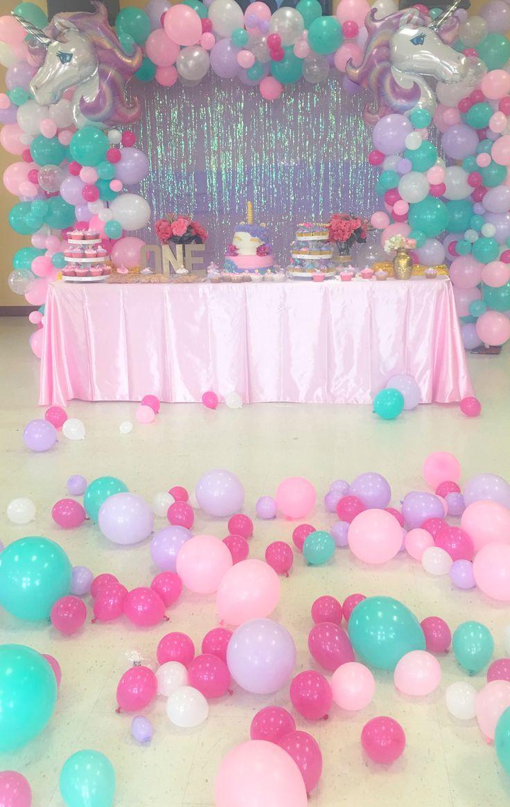212 best unicorn party theme images on pinterest 3d - Decoracion party ...