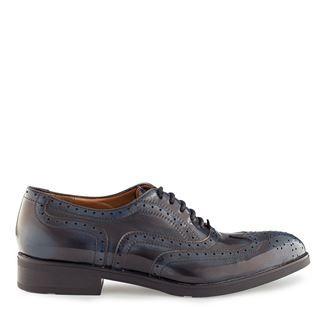 Pantofi dama albastrii 4082 piele abrazivata