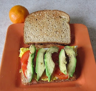 My #lunch today: Avocado & egg #sandwich. This recipe uses whole wheat ...