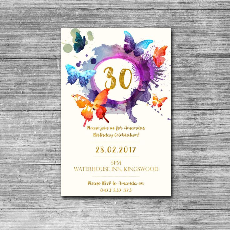 46 best Birthday invitations for adults images on Pinterest ...
