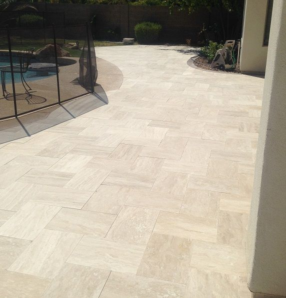 pools and patios limestone patio