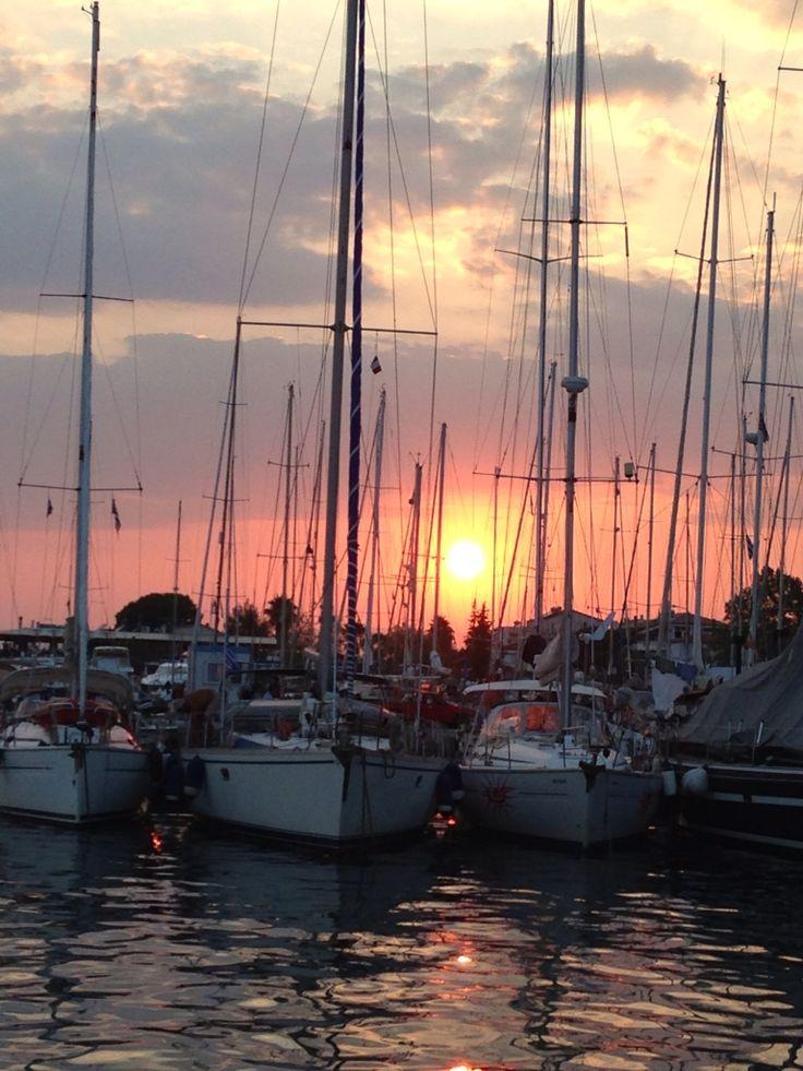 Kalamata's harbor - sunset