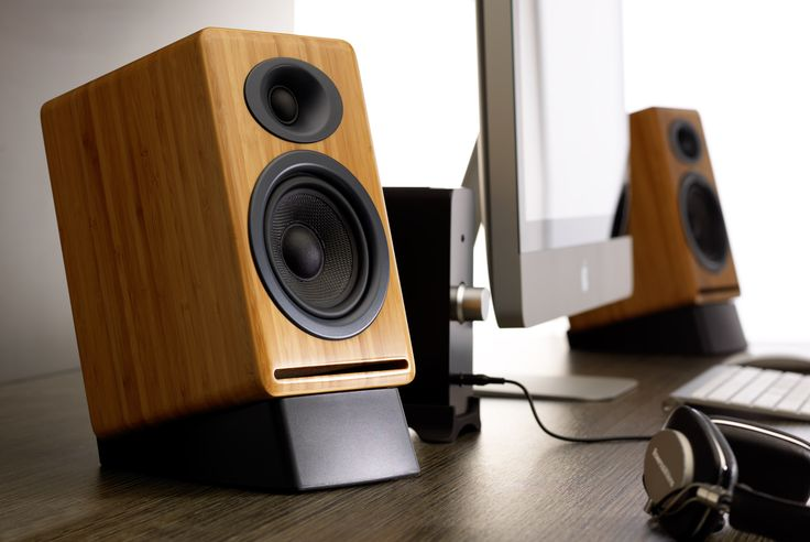 AudioEngine P4 Passive Bookshelf Speakers, Bamboo