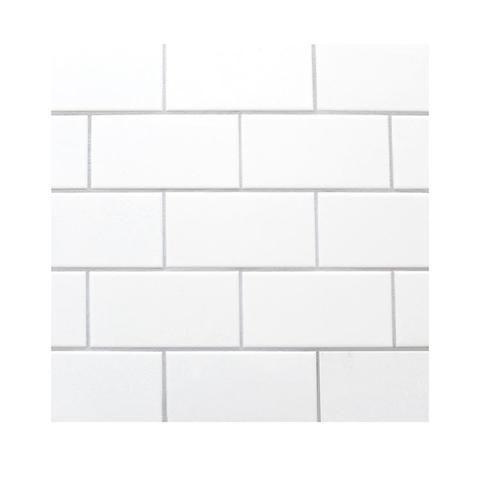 White subway tile 4″x8″