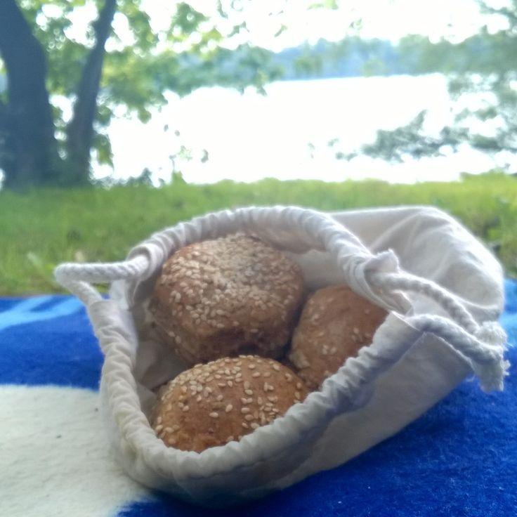 rozsos magos pogácsa vászonzsákban a dunaparti pikniken zoldeletmod.hu
