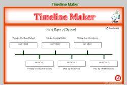Soft Schools Timeline Maker