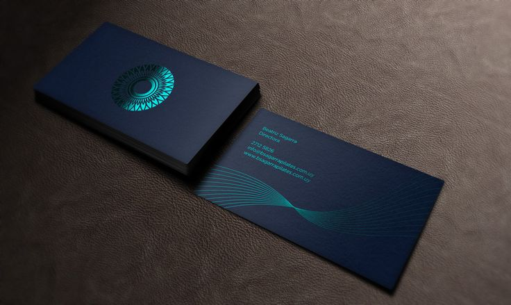 Pilates Foil Stamped Business Card - Business Cards on Creattica: Your source for design inspiration