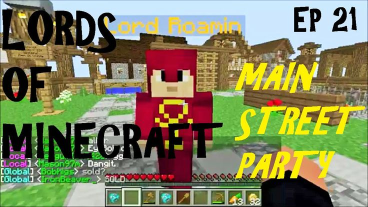 LORDS OF MINECRAFT, Main Street Park Party . Role-play Mc Server